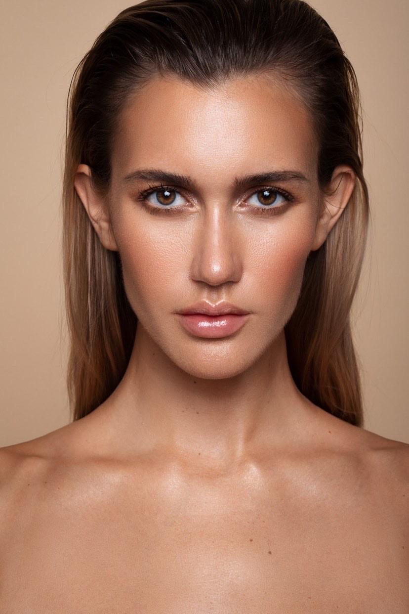 model blond girl natural beauty makeup